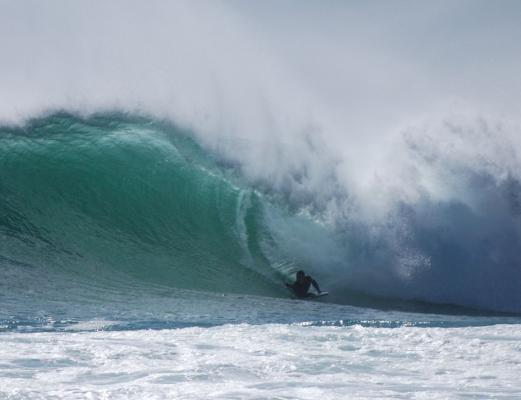 Wesley Potts, Bottom turn at Hoek