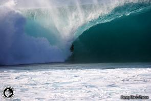 Jonathan Oliff :: Danny in perfect position as always for large barrels on the North Shore.... Oros maybe a little deep here